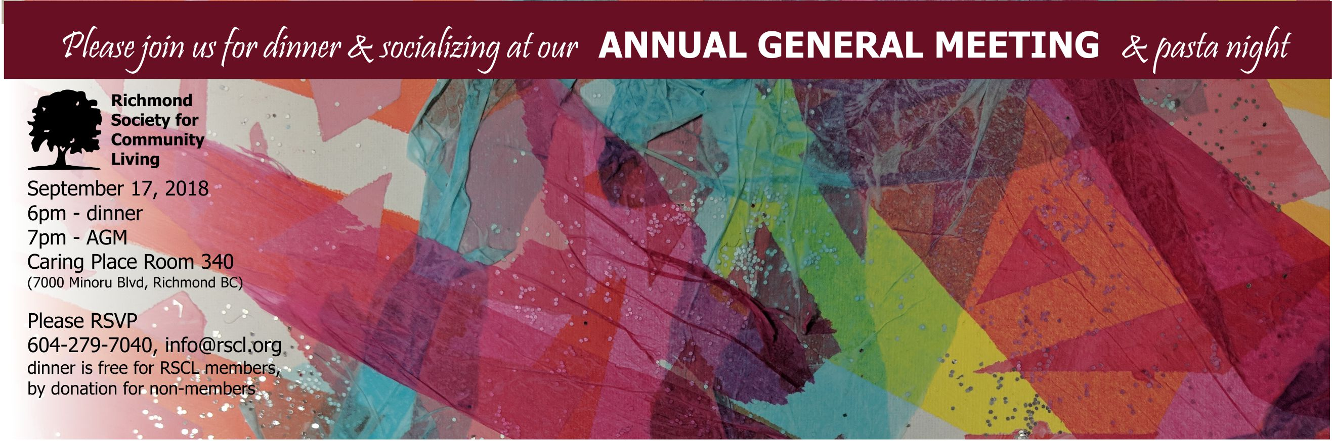 Annual General Meeting 2018richmond Society For Community